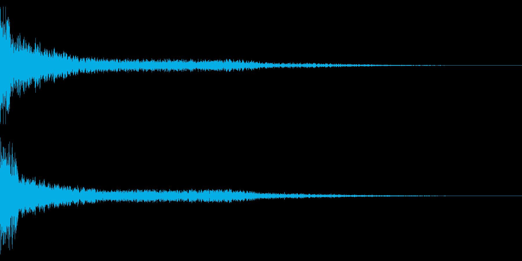 ホラー系アタック音58の再生済みの波形