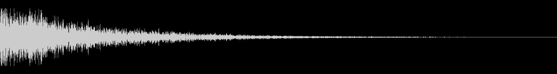 不吉なアタック音の未再生の波形