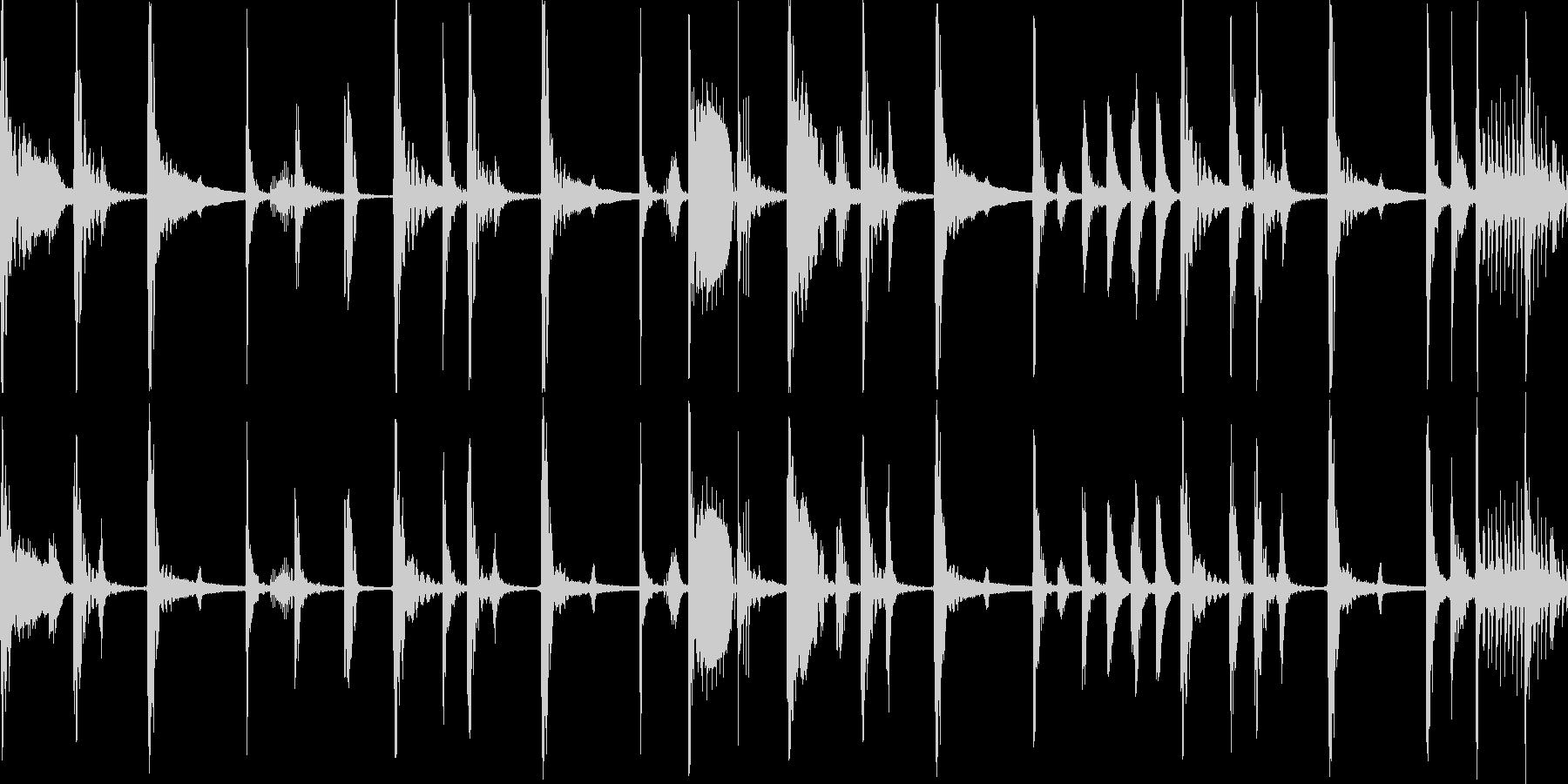 ジャングル多国籍民族のBGM_LOOPの未再生の波形