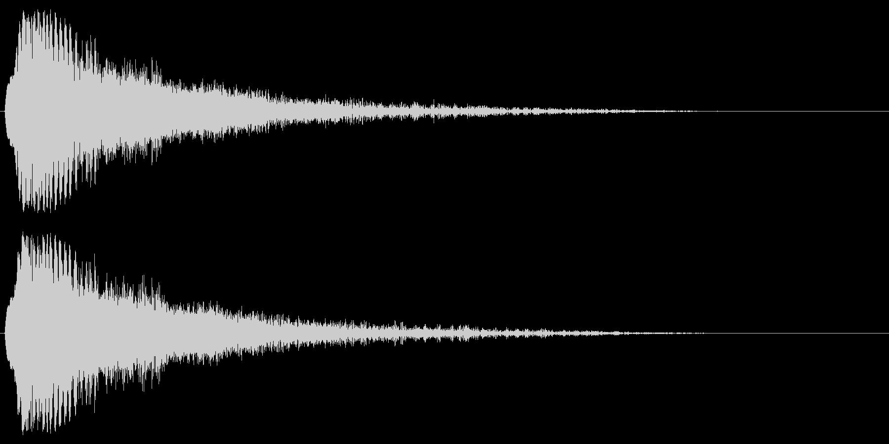 レーザービーム・電撃などの衝撃2の未再生の波形