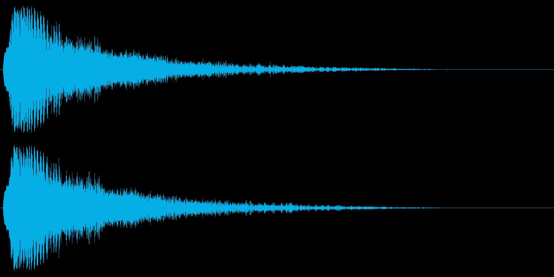 レーザービーム・電撃などの衝撃2の再生済みの波形