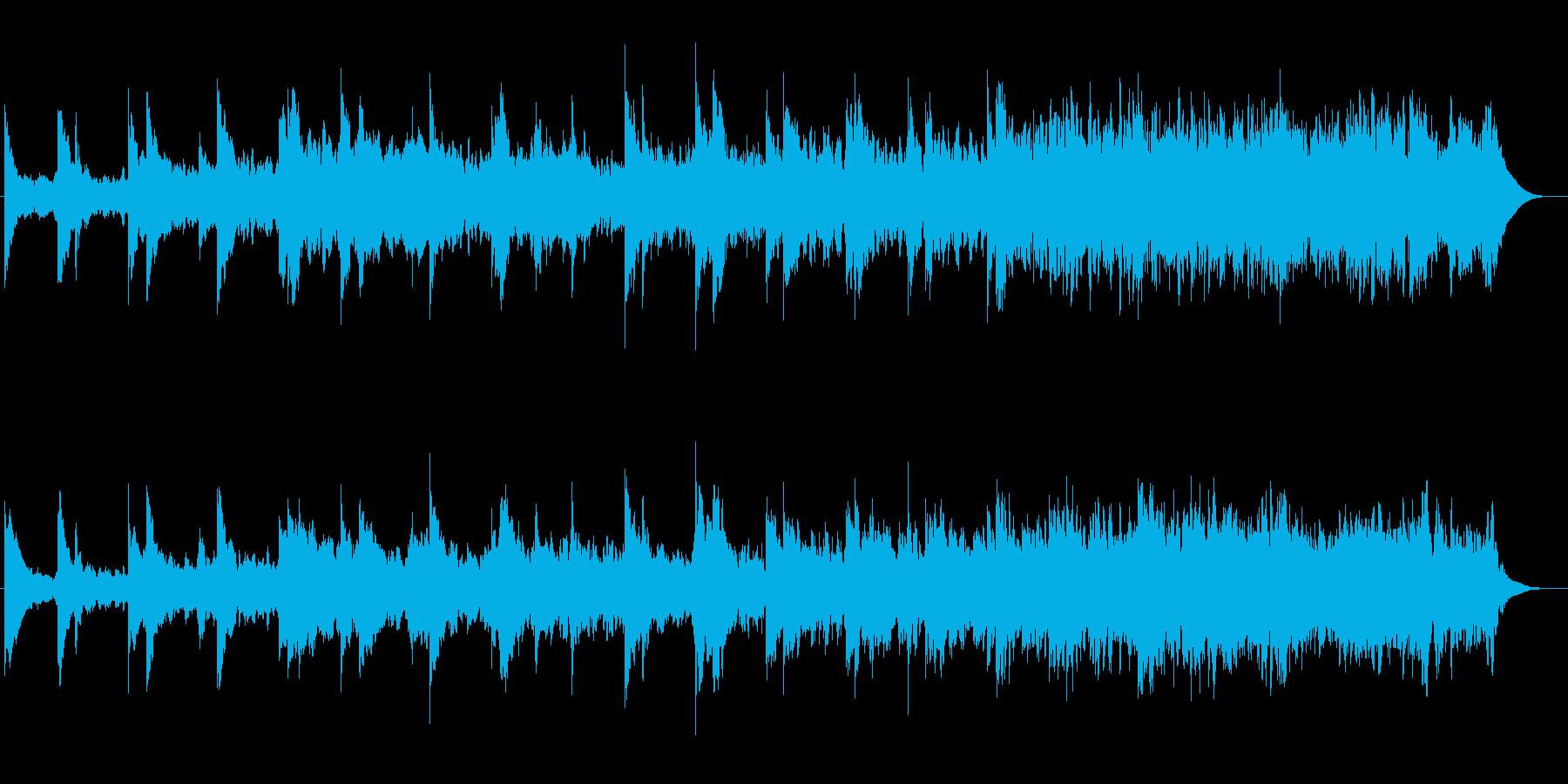 ゆったりしたピアノ・シンセなどの曲の再生済みの波形