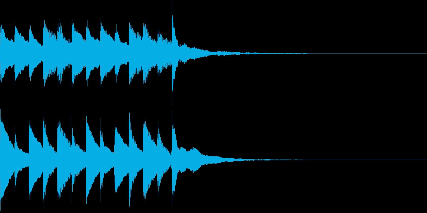 サウンドロゴ、ゴージャス感、verBの再生済みの波形