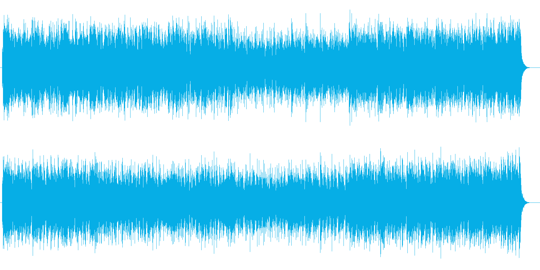 流暢でリズミカルなポップサウンドの再生済みの波形