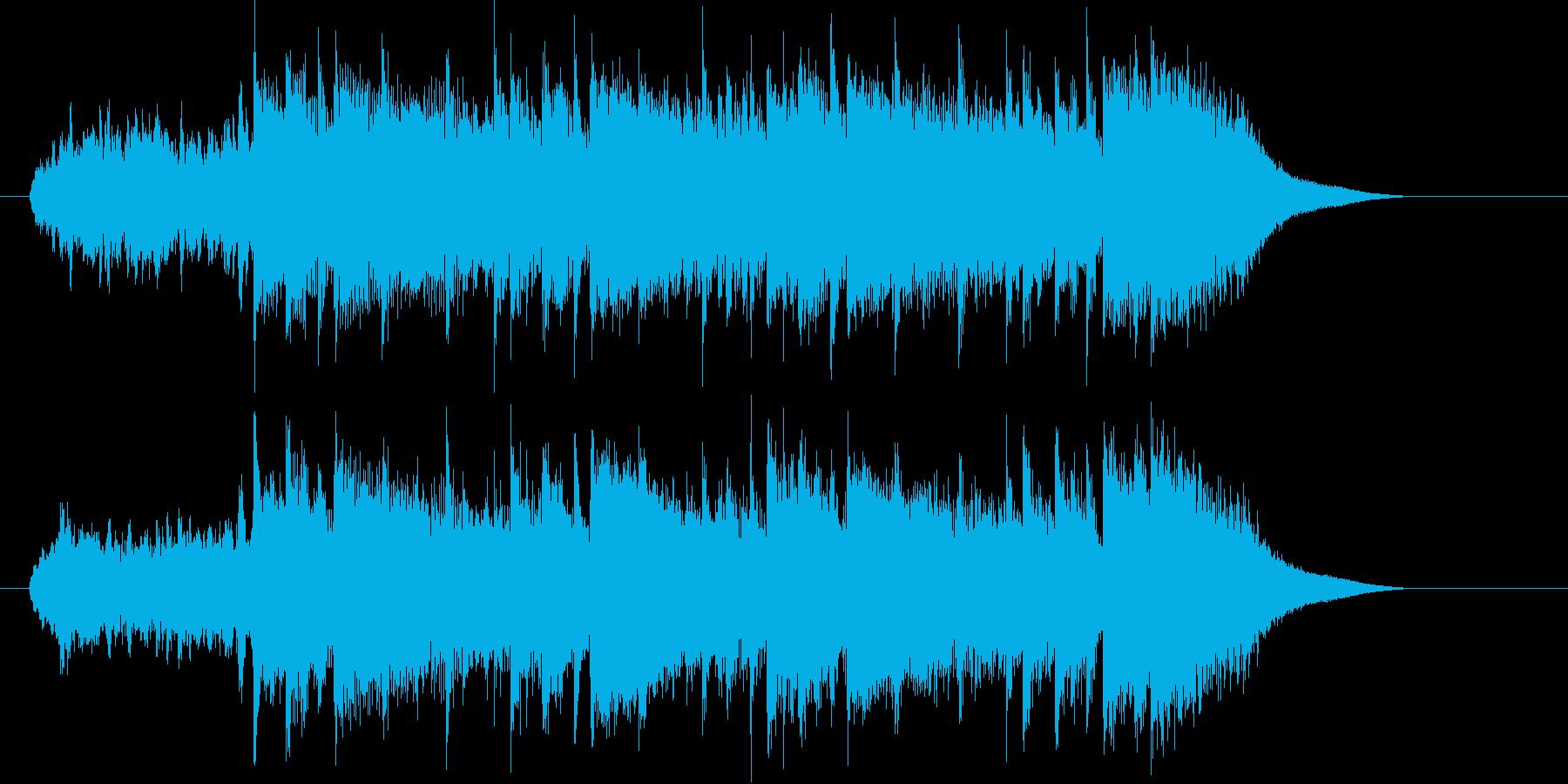 神秘的なピアノポップスの再生済みの波形