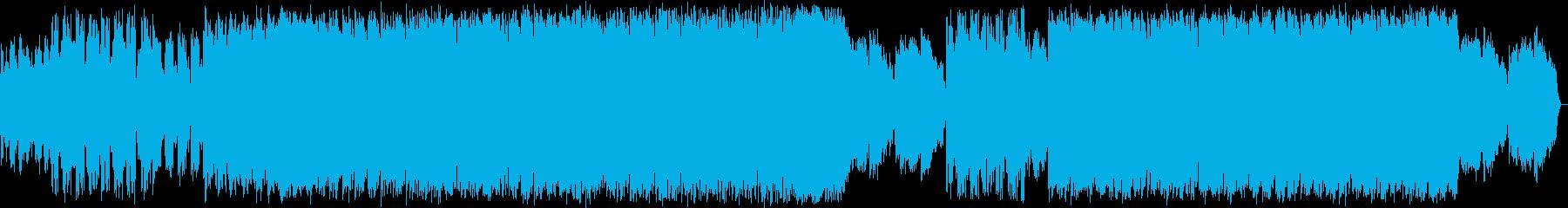 躍動感のあるシンセポップハウス系の再生済みの波形