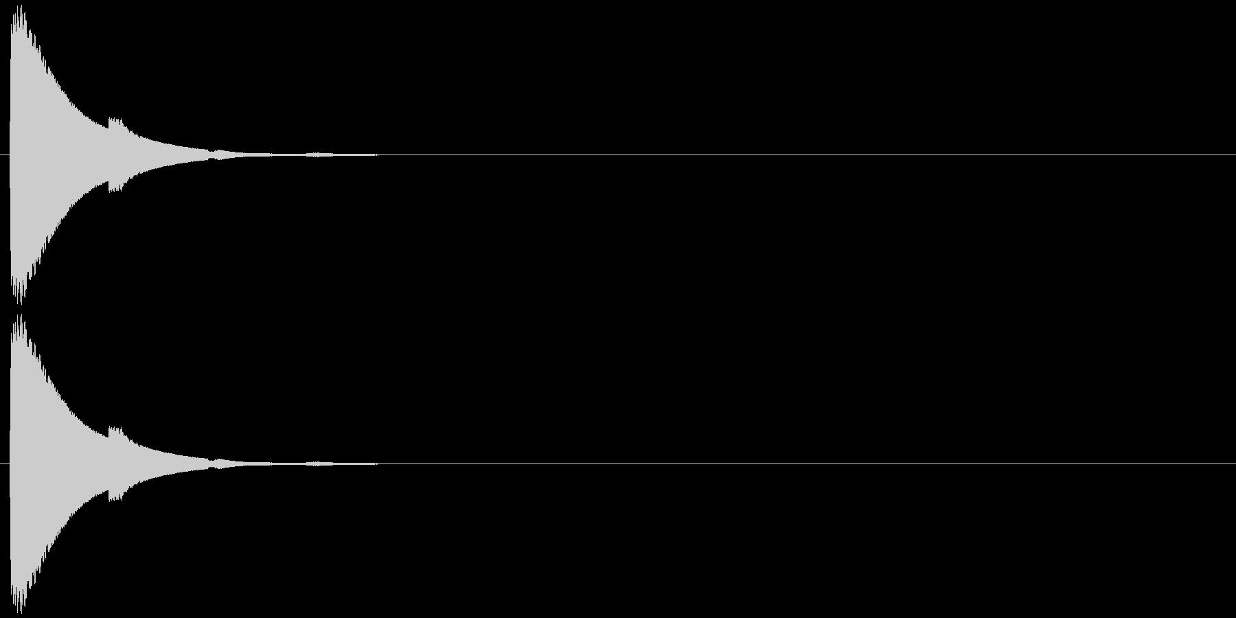 チン(響き有)の未再生の波形