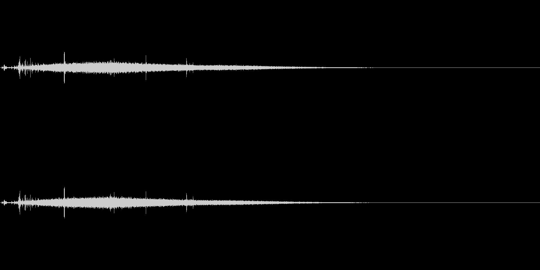 氷結系の魔法のイメージの未再生の波形