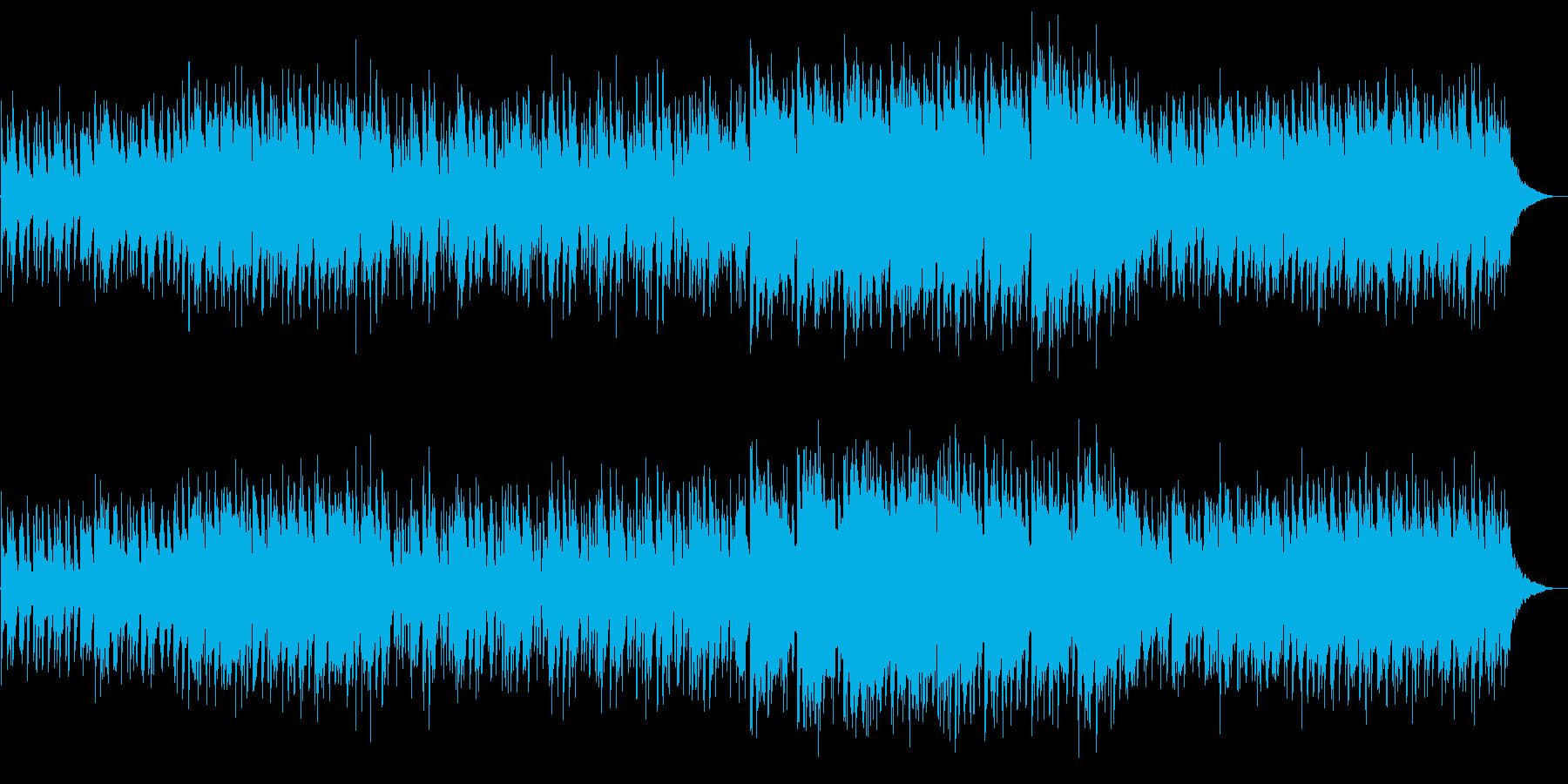 ケルティックなバイオリンと攻撃的なリズムの再生済みの波形