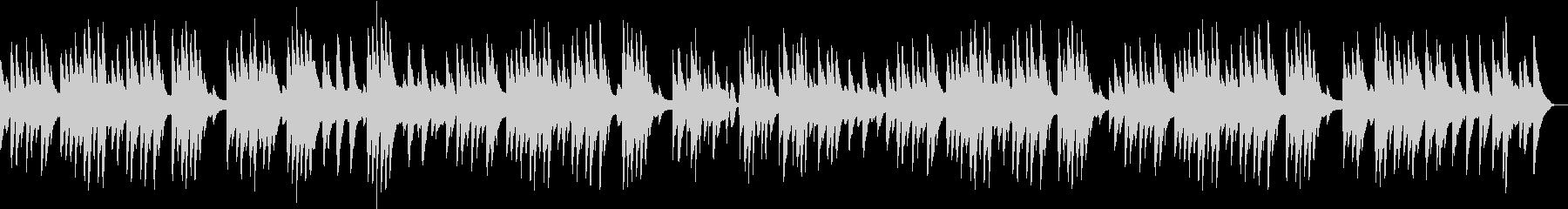 不思議な雰囲気のソロピアノ曲の未再生の波形