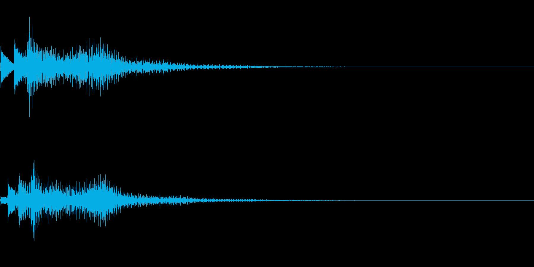 システム音11_シンセDPの再生済みの波形