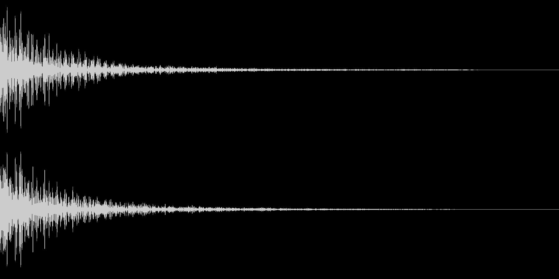ホラー系アタック音55の未再生の波形
