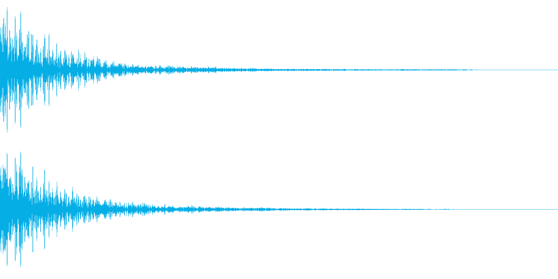 ホラー系アタック音55の再生済みの波形