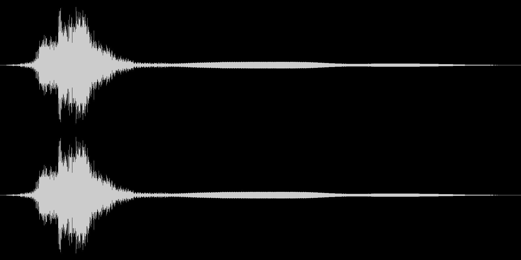シャキーン!リアルな剣や刀の抜刀音28bの未再生の波形
