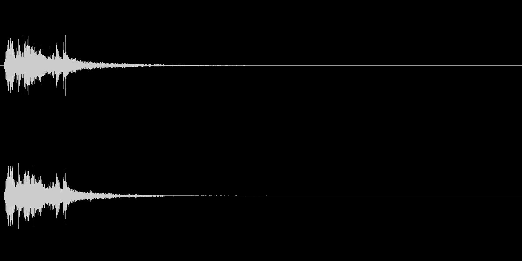 重金属的な効果音「ジャラリーン」の未再生の波形