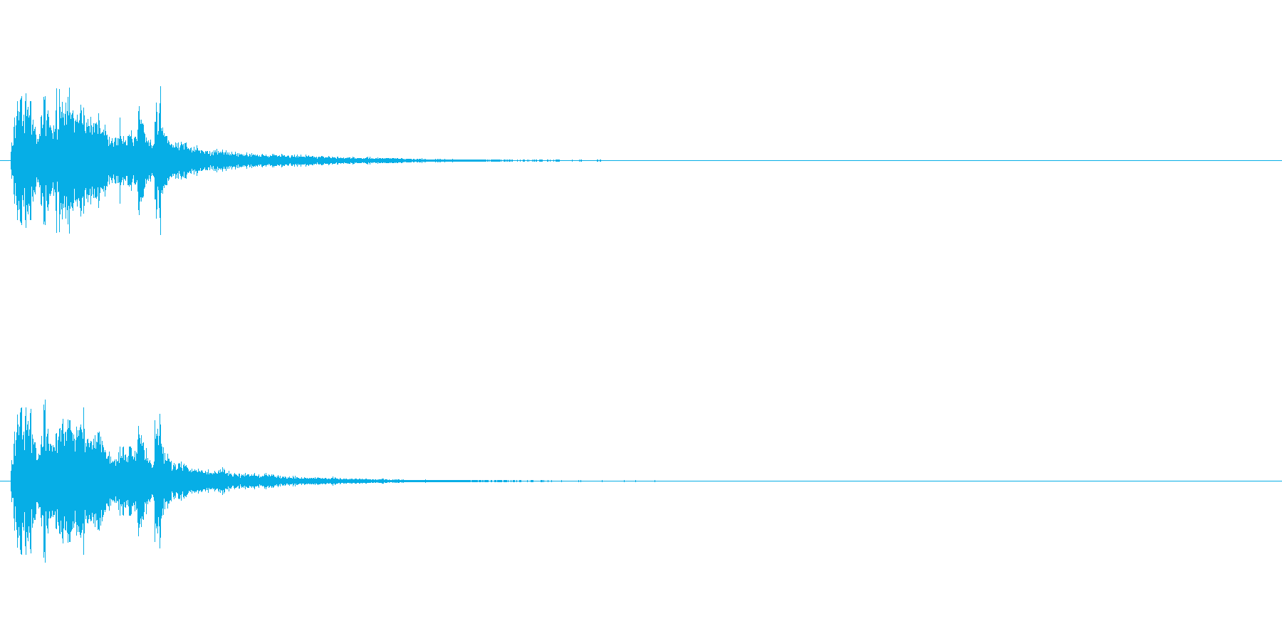 重金属的な効果音「ジャラリーン」の再生済みの波形