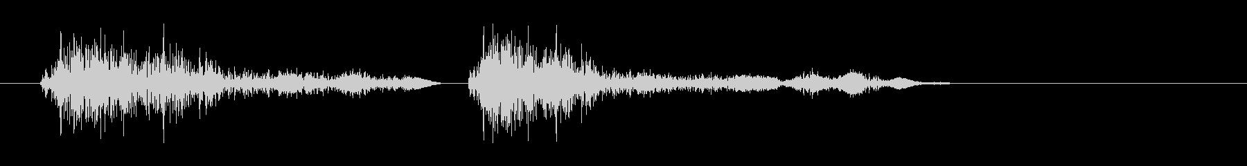 シャッター音(カシャ)の未再生の波形