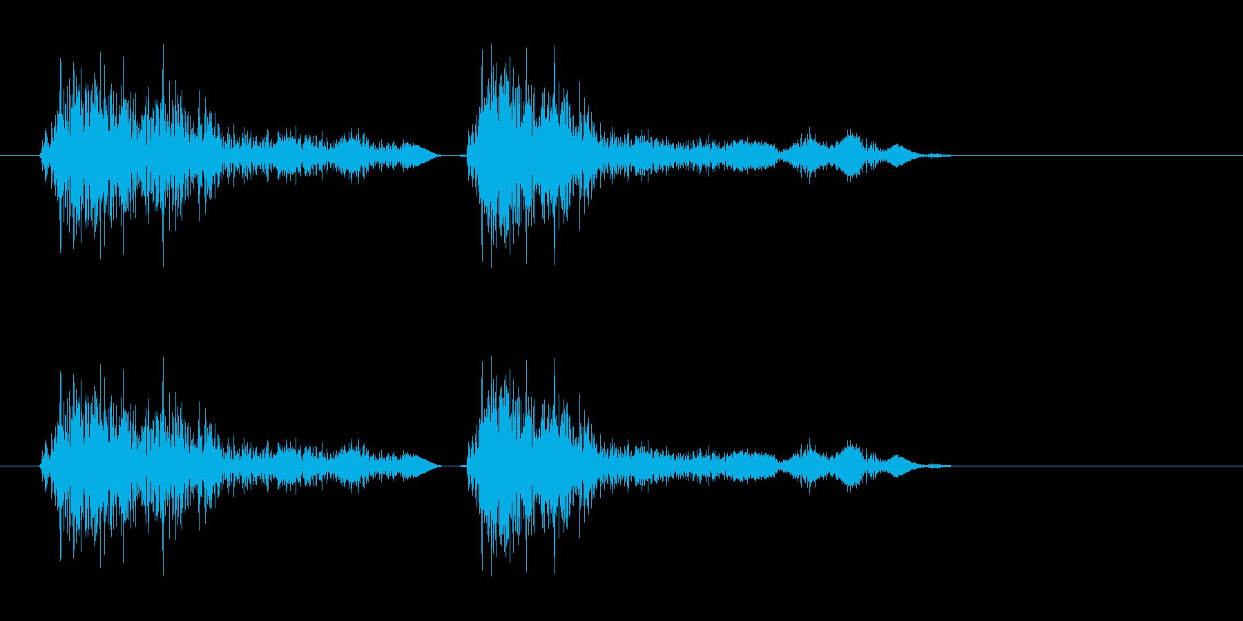 シャッター音(カシャ)の再生済みの波形