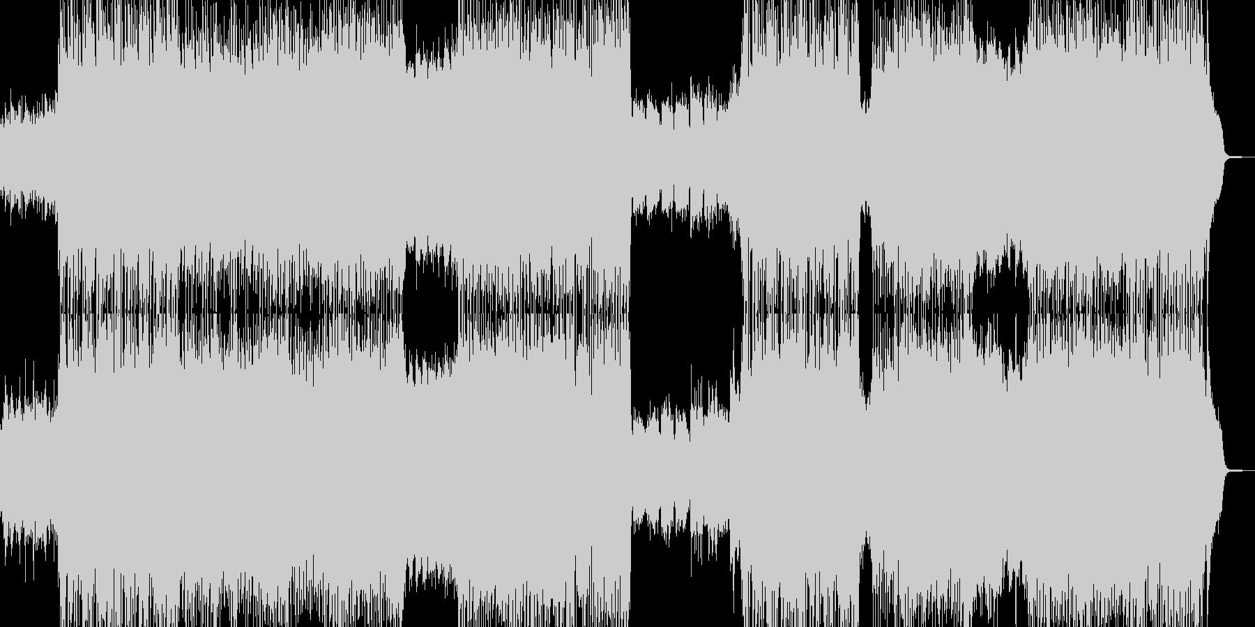 青空晴れ渡るイメージのピアノとバイオリンの未再生の波形