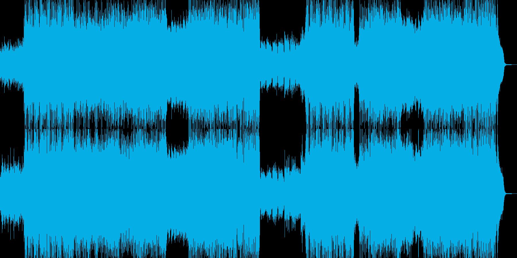青空晴れ渡るイメージのピアノとバイオリンの再生済みの波形