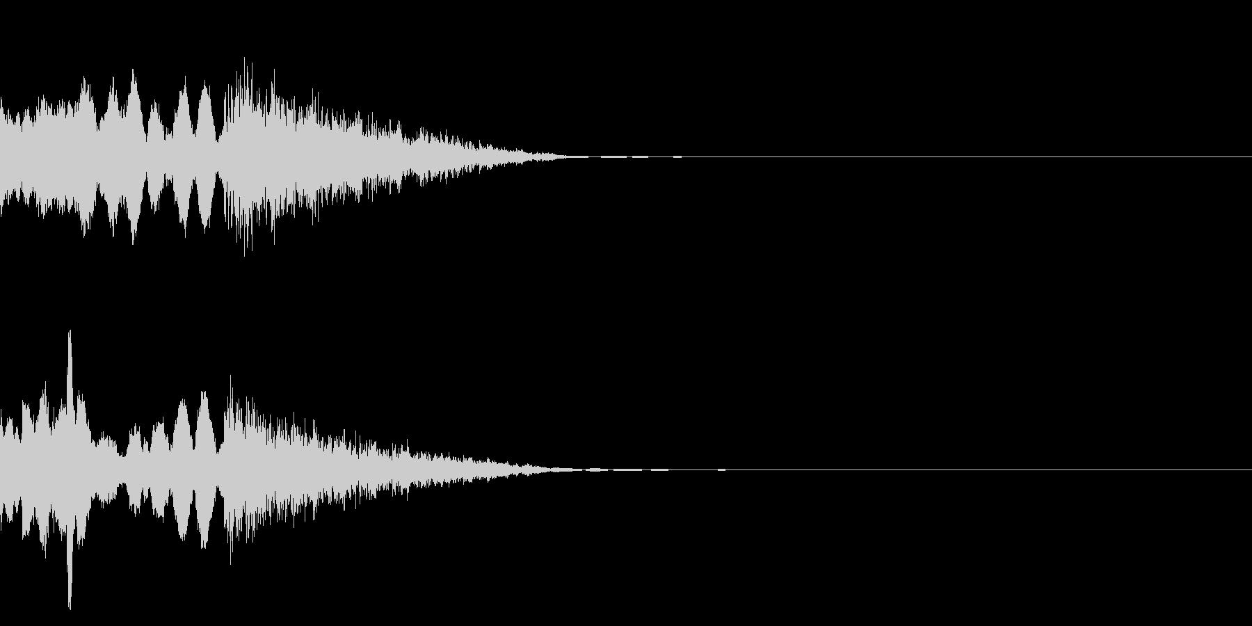 穏やかなファンファーレの未再生の波形