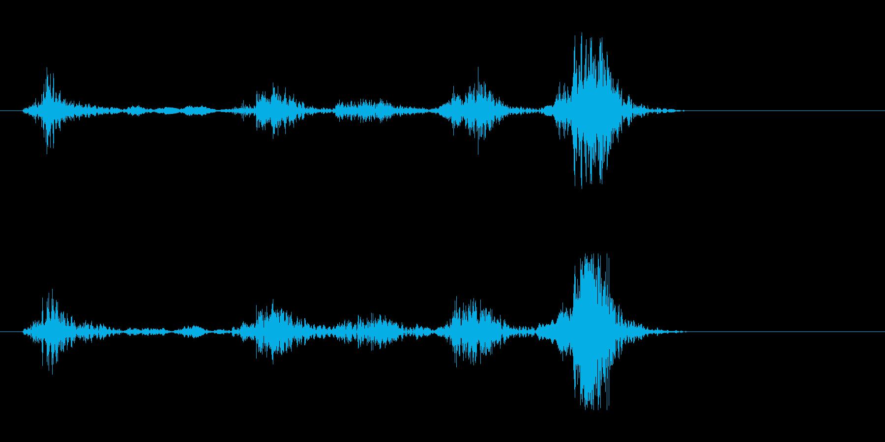 カチャ、(鍵などを差し込んで回した音)の再生済みの波形