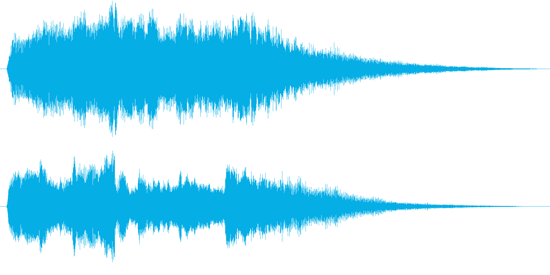 洗練されたクールな映像オープニングロゴの再生済みの波形