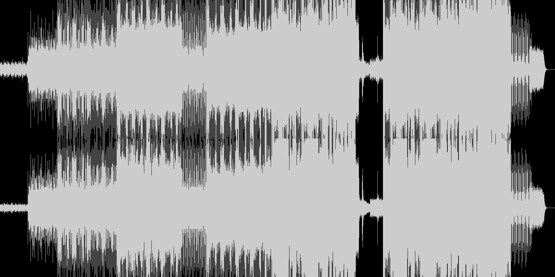 幻想的なエレクトロインストロメンタルの未再生の波形