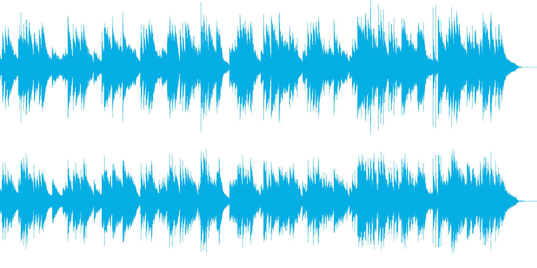 穏やかなくつろぎのひとときの再生済みの波形