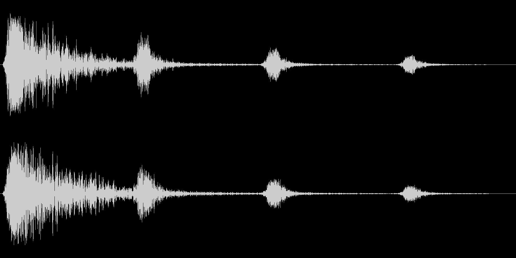 シュワンシュンシュン(回転音)の未再生の波形