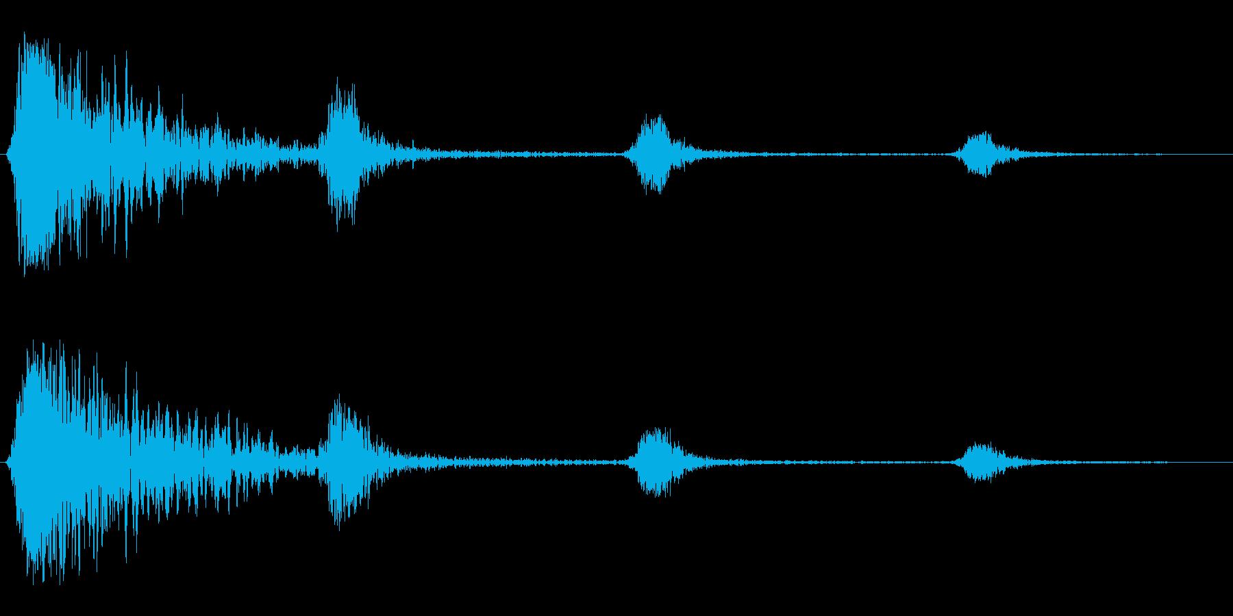 シュワンシュンシュン(回転音)の再生済みの波形