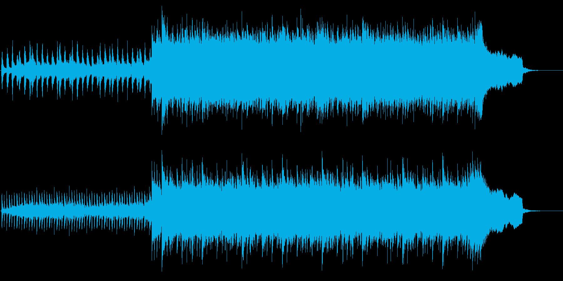 躍動感溢れるストリングス&ロックギターの再生済みの波形