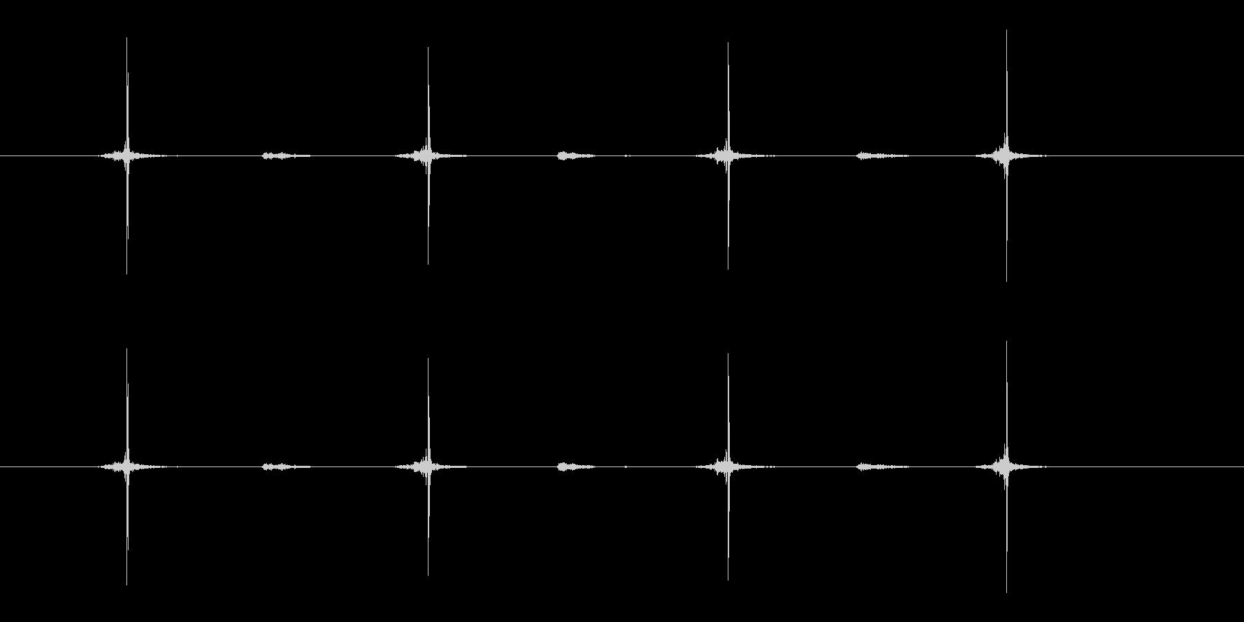 チョキチョキチョキチョキ(ハサミ)の未再生の波形