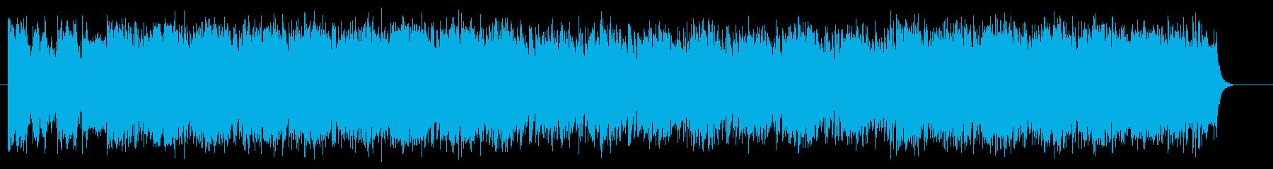 疾走感のあるテクノ・ロックの再生済みの波形
