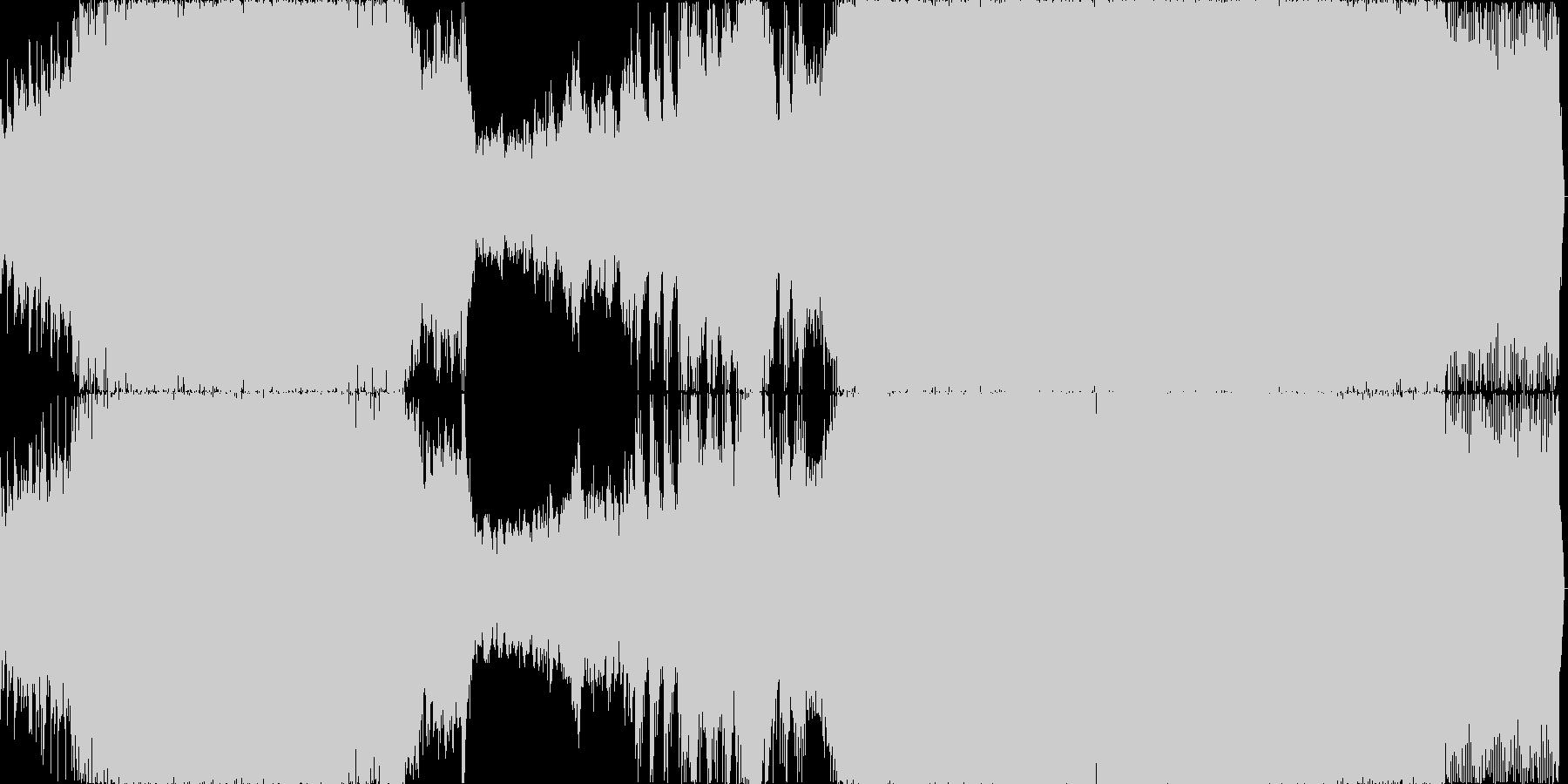 動画やゲームBGM向けな軽快なトランスの未再生の波形