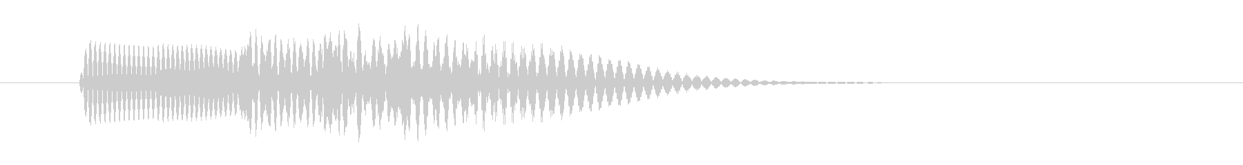 ピロリ  キャンセル音 01 高音の未再生の波形