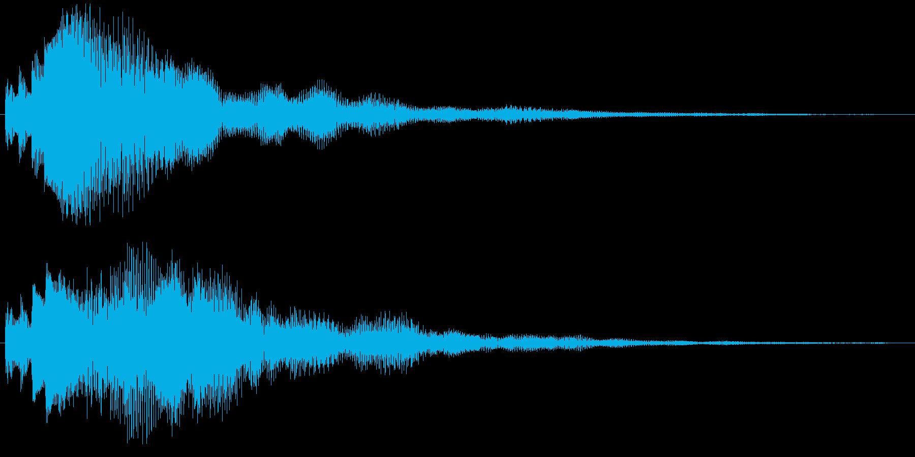 決定/ボタン押下音(深い響き)の再生済みの波形