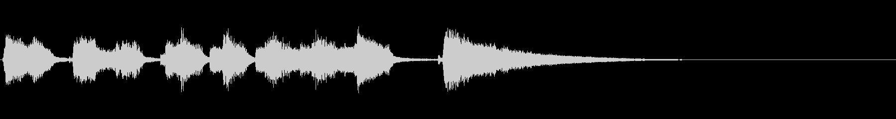 シンセとウクレレの明るいジングルの未再生の波形
