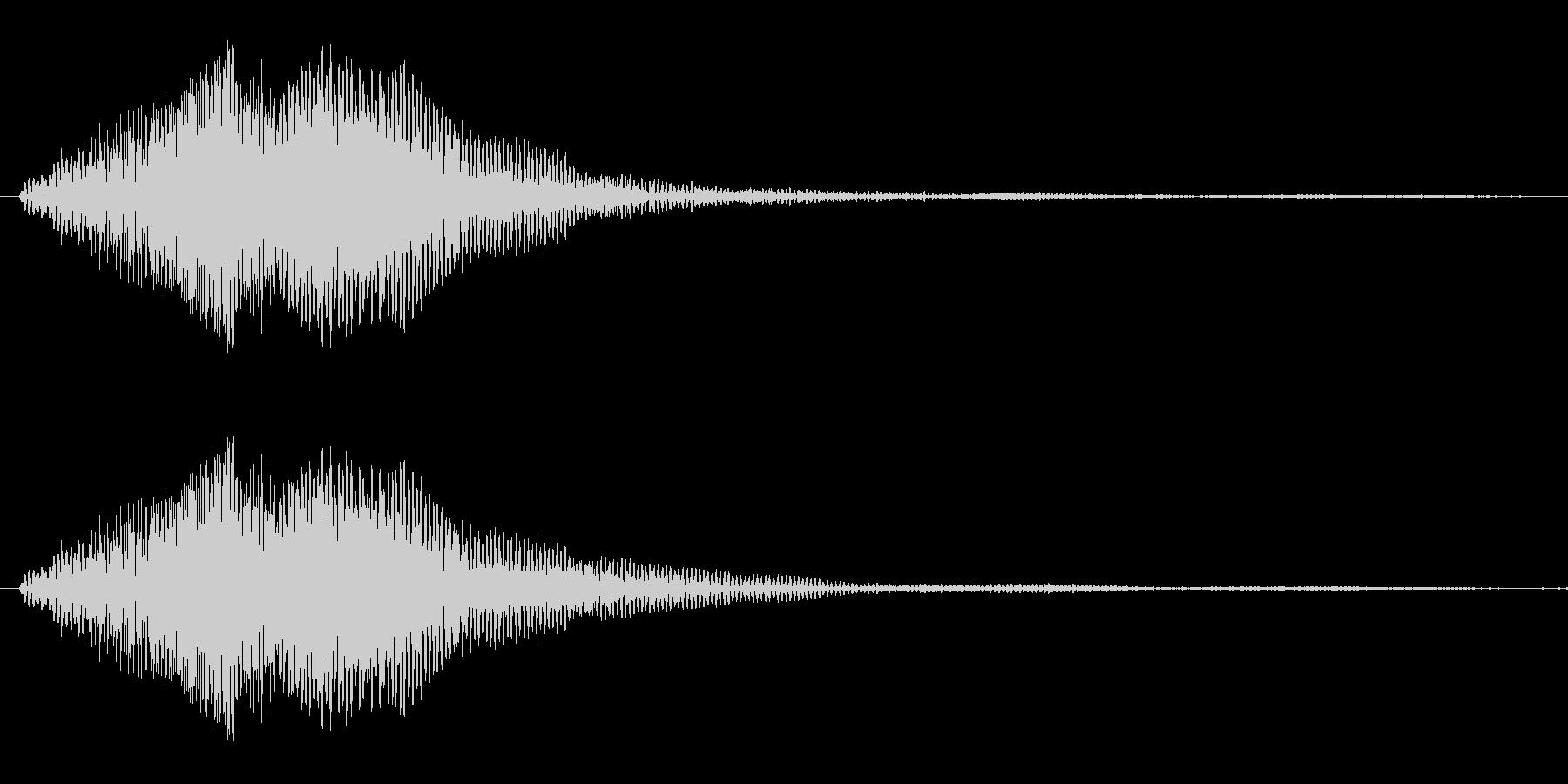闇の魔法をイメージした効果音の未再生の波形
