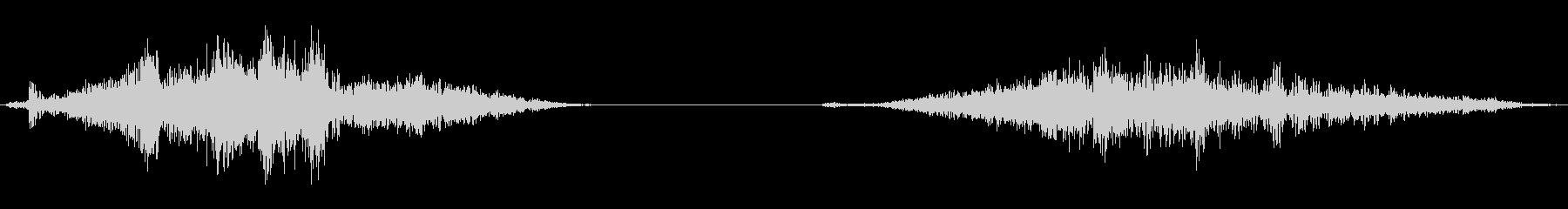 襖の開閉2(速度普通)の未再生の波形