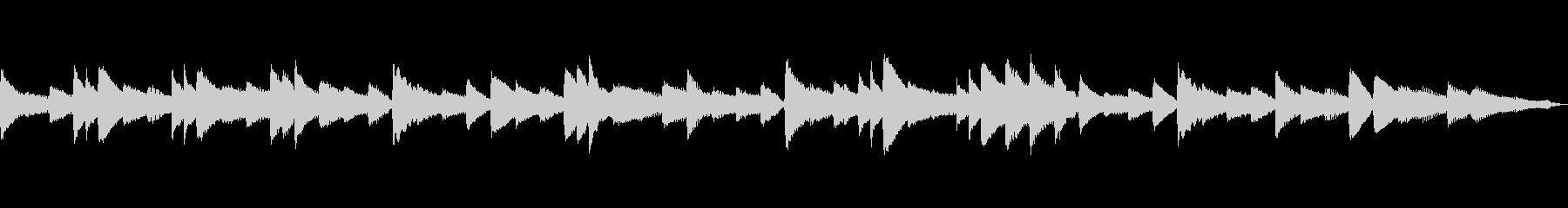 落ち着いた和風イメージなピアノソロの未再生の波形