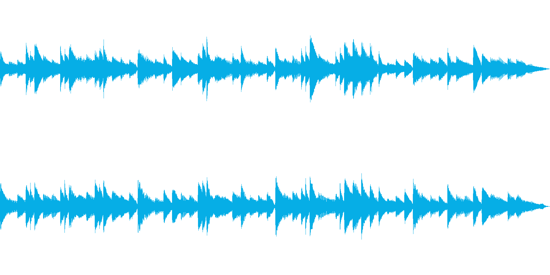 落ち着いた和風イメージなピアノソロの再生済みの波形