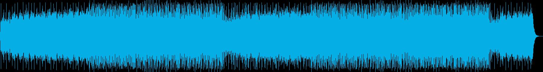 壮大な始まりの重厚なテクノ音の再生済みの波形