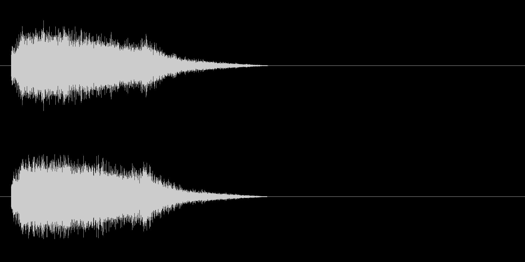 蒸気機関の音の未再生の波形