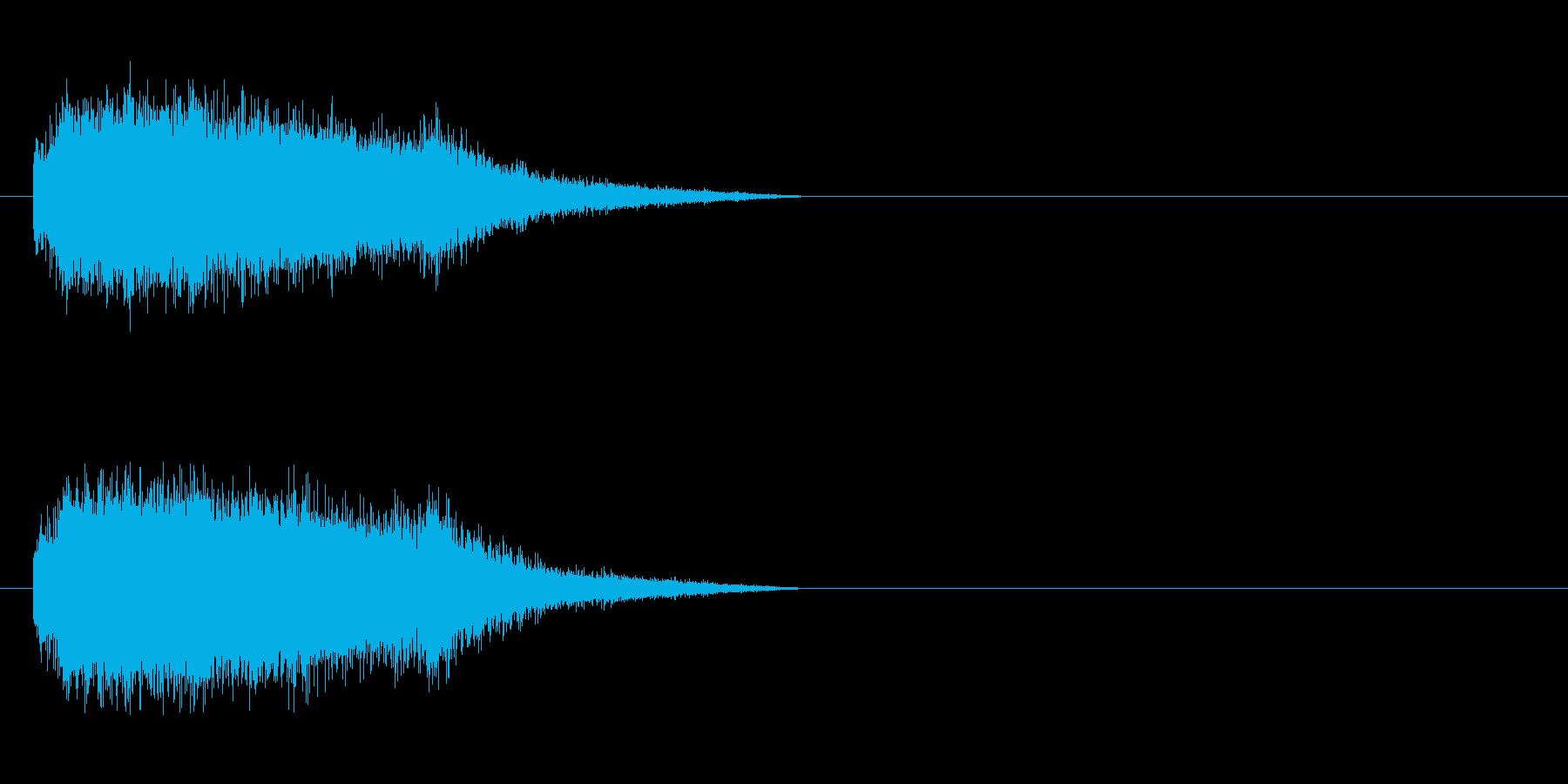 蒸気機関の音の再生済みの波形