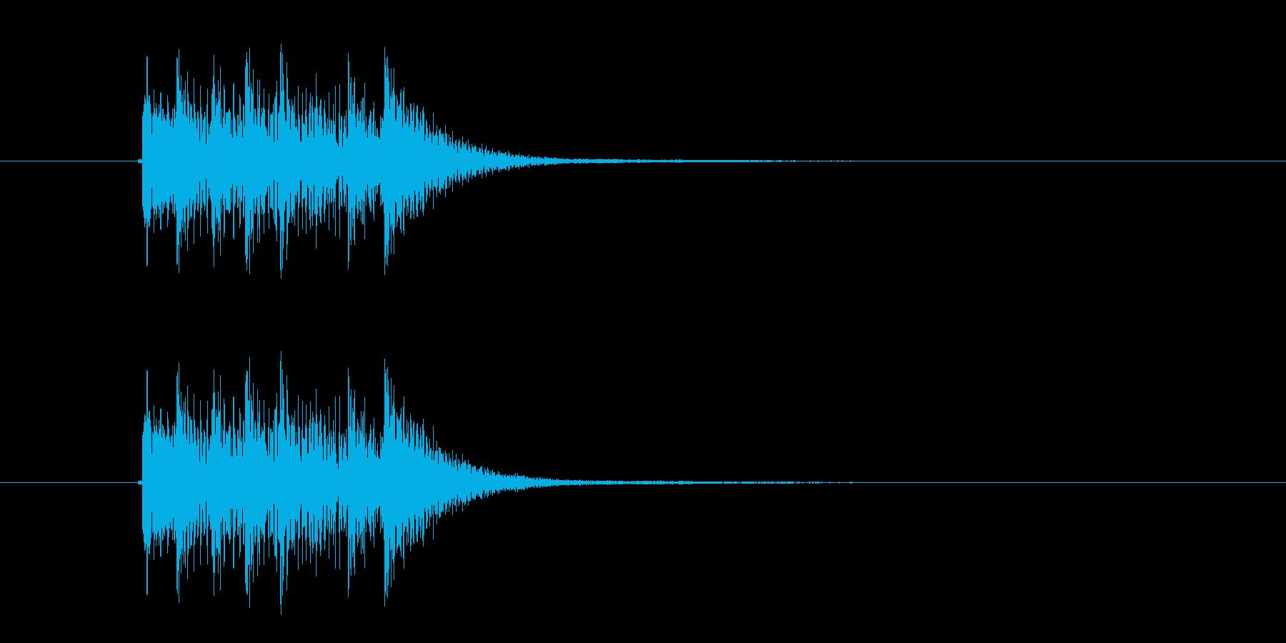 軽やか木琴打楽器音(アニメ、ジングル)の再生済みの波形