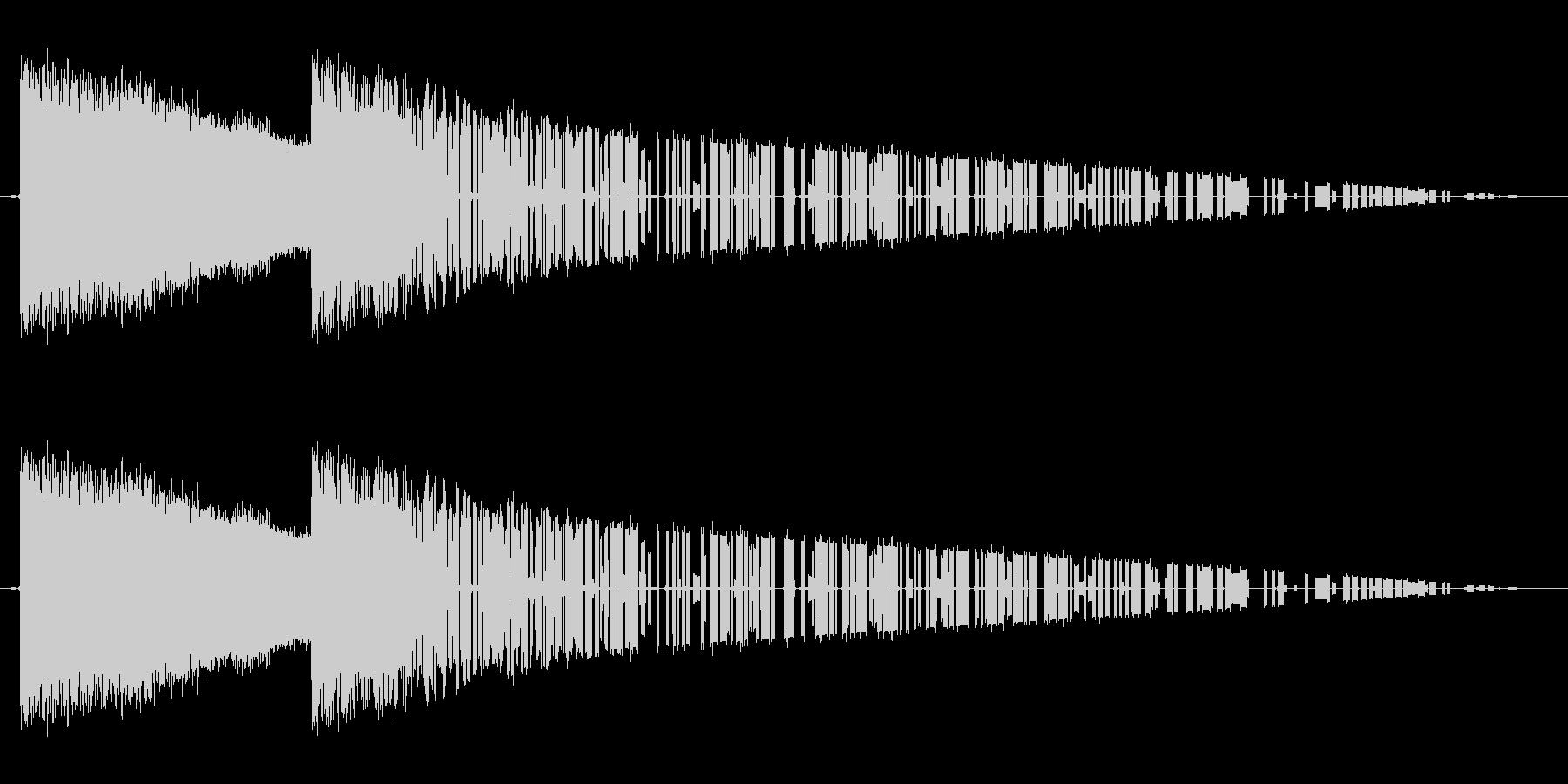 レトロゲーム風魔法雷系2の未再生の波形
