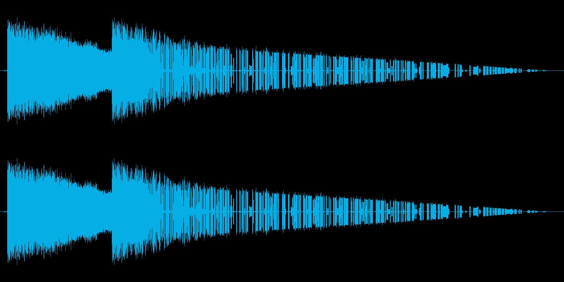レトロゲーム風魔法雷系2の再生済みの波形
