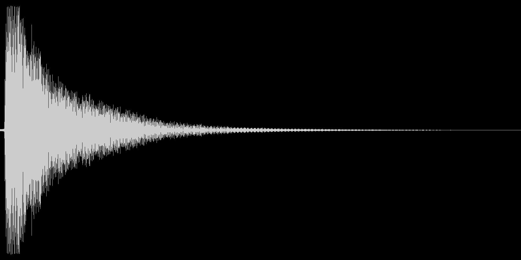 コーン。しらける・すべる音(低め)の未再生の波形
