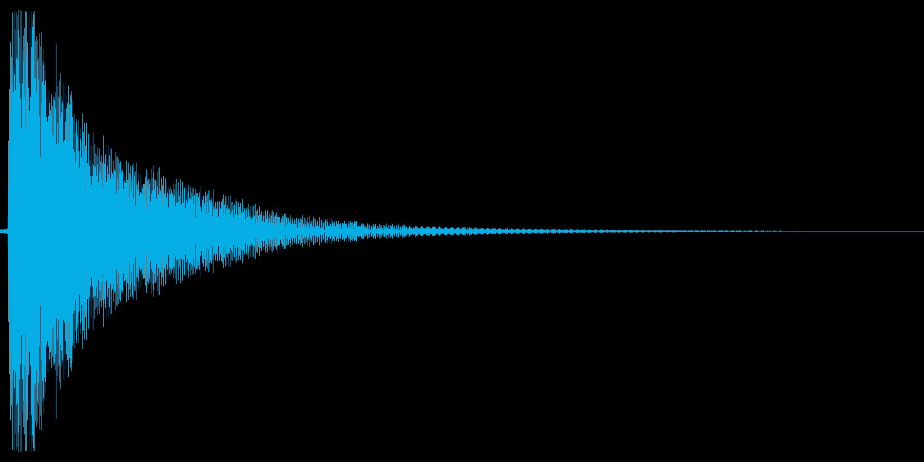 コーン。しらける・すべる音(低め)の再生済みの波形